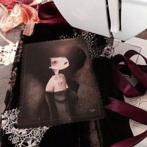 Anne Julie Aubry 日記 縫い付け