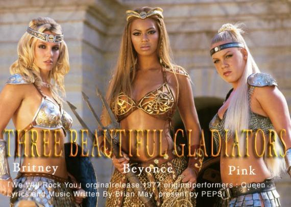 Pepsi CM Beyonce-Britney Spears-Pink