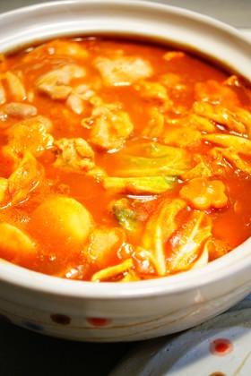 トマトとカレーの洋風鍋