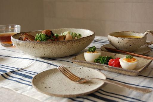 moegi pasta plate teecup squre plate
