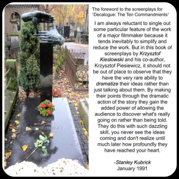 authar by Stanley Kubrick about Krzysztof Kieslowski
